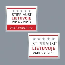 Stipriausi Lietuvoje 2014-2016